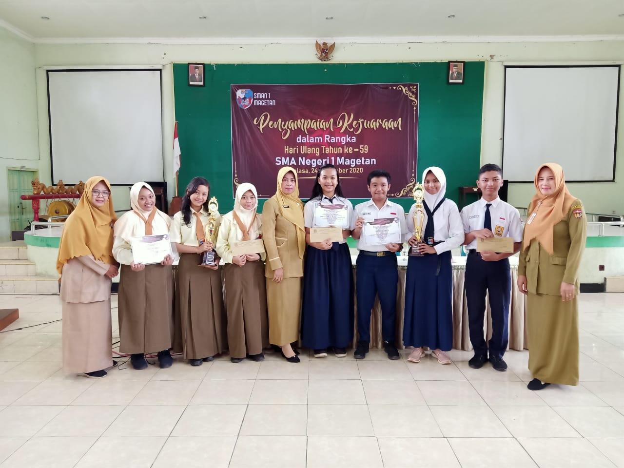 Siswa SMP Negeri 2 Ngawi Raih Juara 1 dan 2 OSM SMASA Magetan